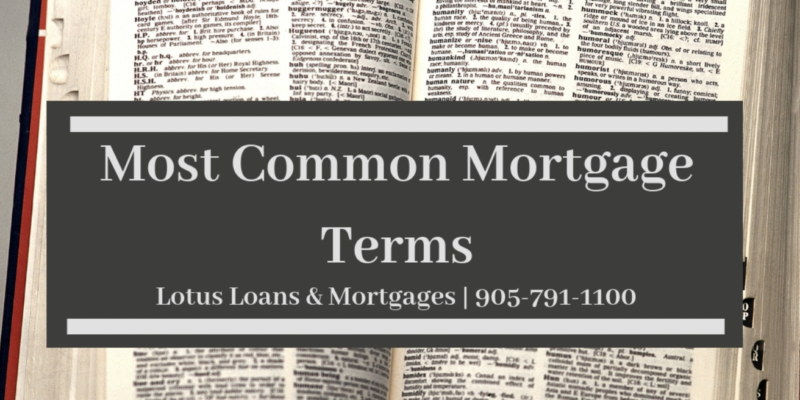 Most Common Mortgage Terms